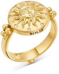 Temple St. Clair 18k Yellow Gold Celestial Diamond Sole Ring - Metallic
