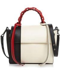Elena Ghisellini - Angel Small Abstract Top Handle Leather Handbag - Lyst