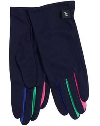 Echo Colour Blocked Summer Gloves - Blue