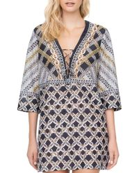Gottex Chains Of Gold Swim Cover - Up - Black