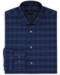 John Varvatos - Check Slim Fit Stretch Dress Shirt - Lyst