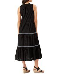 Tommy Bahama Cotton Clip Cover - Up Midi Dress - Black