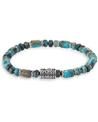 John Hardy - Sterling Silver Classic Chain Mixed Turquoise Bead Bracelet - Lyst