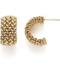 Bloomingdale's - 14k Yellow Gold Woven Hoop Earrings - Lyst