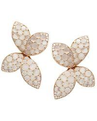 Pasquale Bruni 18k Rose Gold Giardini Segreti Flower Drop Earrings With Diamonds & Moonstone - Metallic