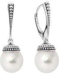 Lagos - Sterling Silver Luna Freshwater Cultured Pearl Drop Earrings - Lyst