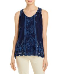 Johnny Was Halo Tank Top - Blue