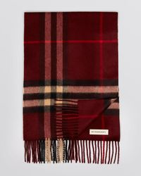 Burberry - Classic Check Cashmere Scarf - Lyst