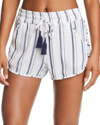 Lucky Brand - Stripe Dolphin Shorts Swim Cover-up - Lyst