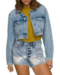 GOOD AMERICAN Cropped Denim Jacket In Blue550