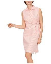 Foxcroft Striped Wrap Dress - Pink