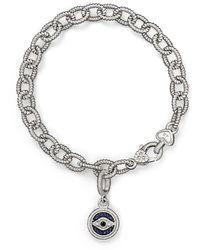Judith Ripka Evil Eye Charm Link Bracelet With White - Blue