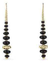 David Yurman - Rio Rondelle Drop Earrings With Black Onyx In 18k Gold - Lyst