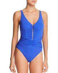 Gottex - Tutti Frutti V-neck One Piece Swimsuit - Lyst