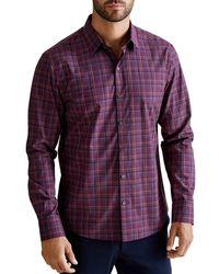 Zachary Prell Dimich Regular Fit Shirt - Purple