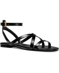 Michael Kors Tasha Leather Sandal - Black