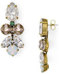 Sorrelli Crystal Lotus Flower Earrings - Multicolour