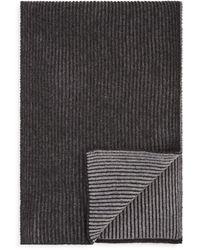 Bloomingdale's Reversible Ribbed Scarf - Grey