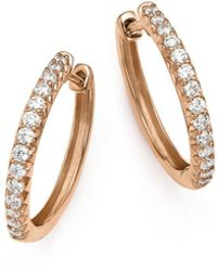 Bloomingdale's Diamond Hoop Earrings In 14k Rose Gold - Multicolour