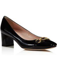 Kate Spade - Women's Dillian Patent Leather Block Heel Pumps - Lyst