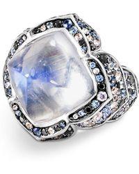 John Hardy - 18k White & Yellow Gold Cinta Naga Ring With Multi-gemstones - Lyst