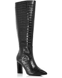 Aqua Women's Maria Block Heel Tall Boots - Black