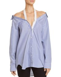 T By Alexander Wang - Cold-shoulder Shirt - Lyst