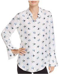 Equipment - Rossi Star Print Silk Shirt - Lyst