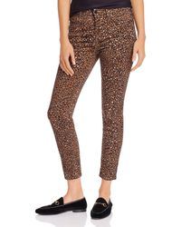 7 For All Mankind Jen7 By Skinny Ankle Jeans In Wild Cheetah - Brown