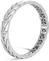 John Hardy - Sterling Silver Modern Chain Hinged Bangle - Lyst