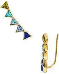 Rebecca Minkoff - Triangle Climber Earrings - Lyst