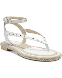 Vince Camuto Kalmia Ankle Strap Studded Sandals - White