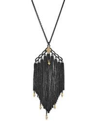 Armenta - 18k Yellow Gold & Sterling Silver Old World Cravelli Tassel Necklace With Champagne Diamonds - Lyst