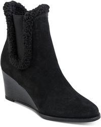 Andre Assous Women's Sasha Wedge Heel Boots - Black