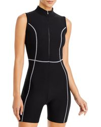 Year Of Ours Active Romper - Black