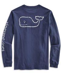 Vineyard Vines Garment Dyed Vintage Whale Tee - Blue