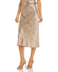 Rails Anya Leopard Print Midi Skirt - Multicolour