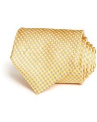 Bloomingdale's Micro Grid Classic Tie - Yellow