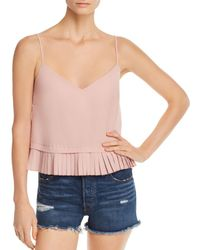 French Connection - Pleated Peplum Cami - Lyst