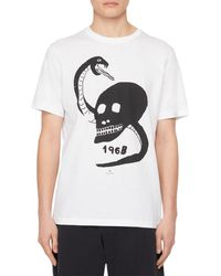 PS by Paul Smith - Skull Snake Print Organic Cotton Tee - Lyst