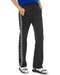 MICHAEL Michael Kors Logo Stripe Ponte Track Pants - Black