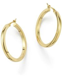 Bloomingdale's 14k Yellow Gold Square Hoop Earrings - Metallic