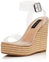 Aqua Women's Salyc Espadrille Wedge Platform Sandals - Natural