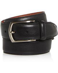 Trafalgar Men's Antonio Leather Belt - Black