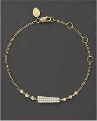 Meira T - 14k Yellow Gold Asymmetrical Diamond Bar Bracelet - Lyst