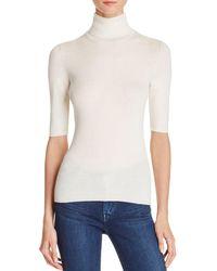 Theory Leenda B Merino Wool Turtleneck Top - White
