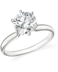 Bloomingdale's Certified Diamond Round Brilliant Cut Solitaire Ring In 18k White Gold