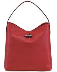 Longchamp Roseau Medium Essential Hobo - Red