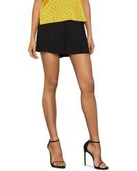 BCBGMAXAZRIA Silk Georgette Shorts - Black