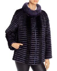 Maximilian Reversible Mink Fur Jacket - Black